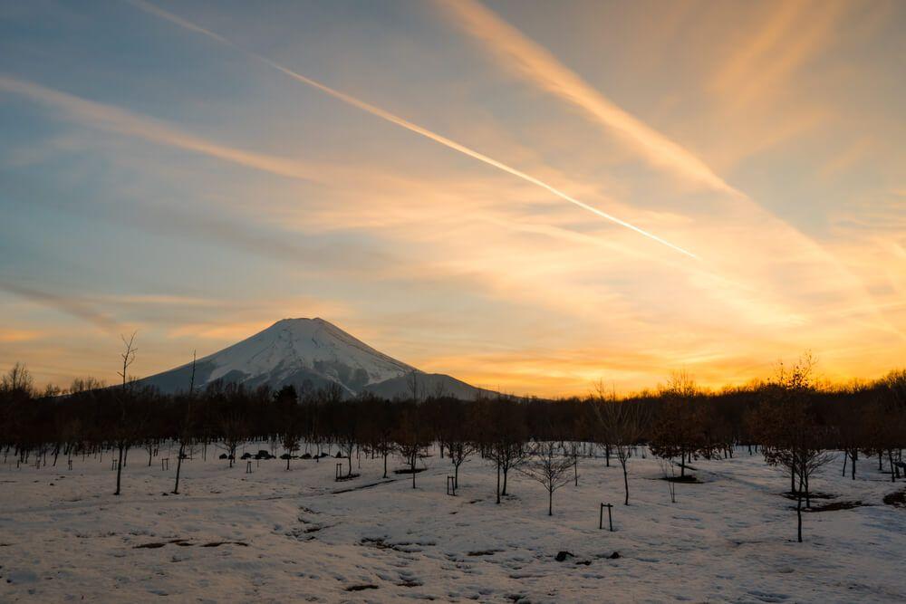 Mont Fuji, île de Honshū au Japon