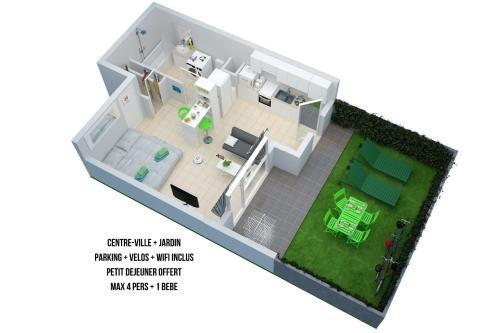 Provisto apartamento en Thonon-les-bains
