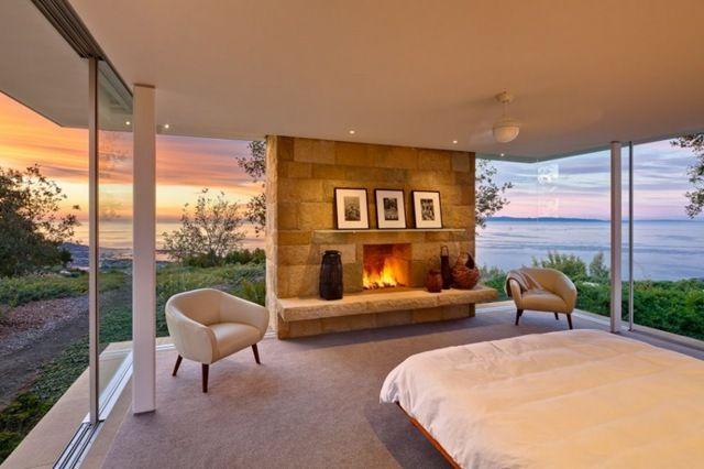 dormitorio y vistas al mar de Foothills