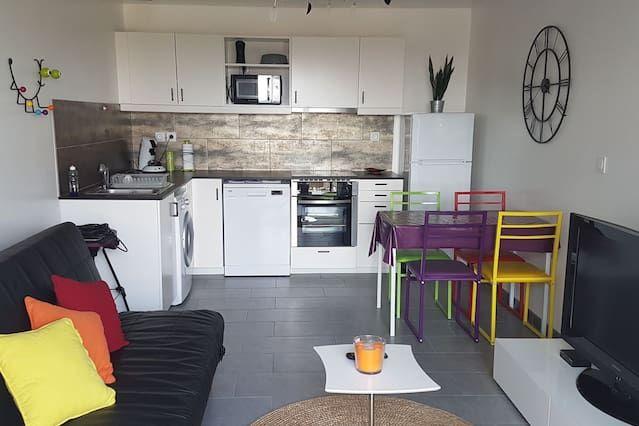 Hermosa T2 nuevo apartamento amueblado toda comodidad - 4 personas