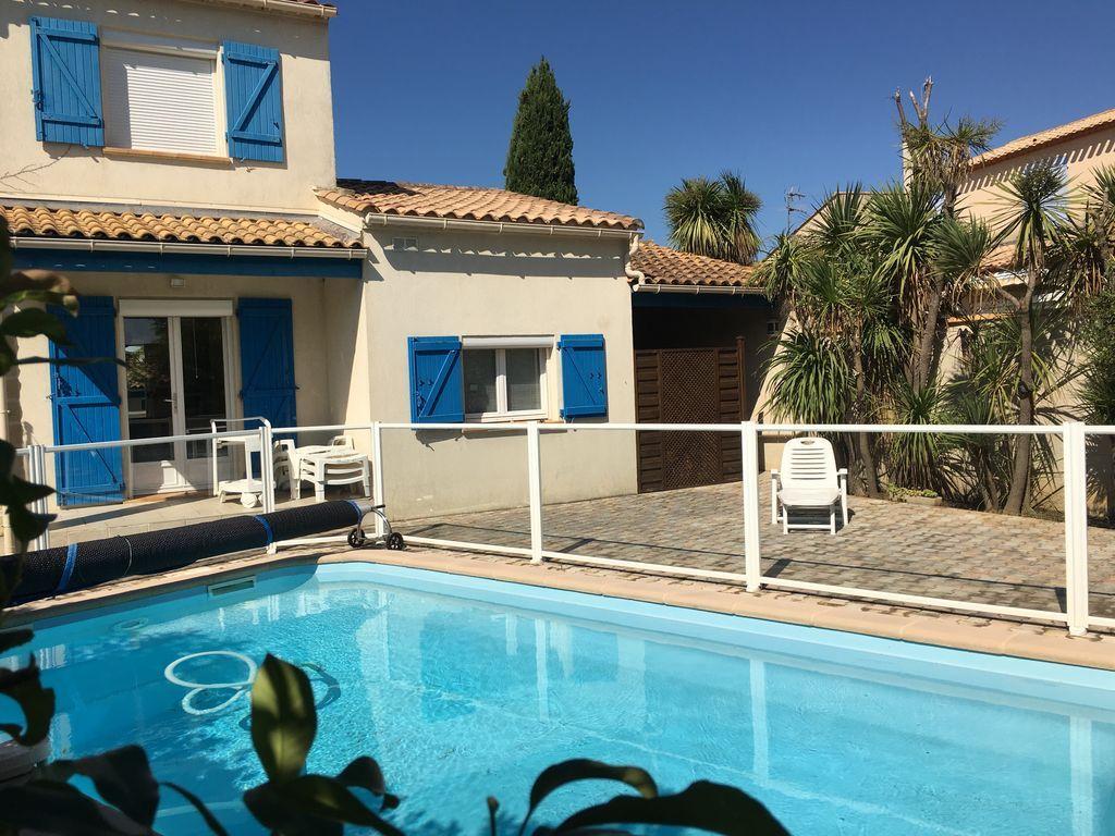 Hermosa casa con jardín, piscina, entre mar y Montpellier