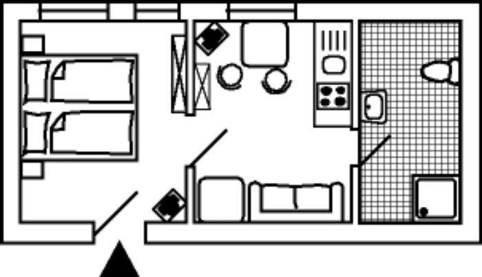 Attraktive Chalet mit 1 Zimmer
