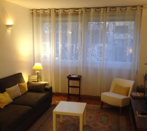 Logement bien équipé de 2 chambres