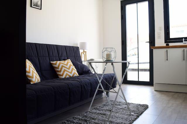 Logement avec petit déjeuner inclus de 25 m²