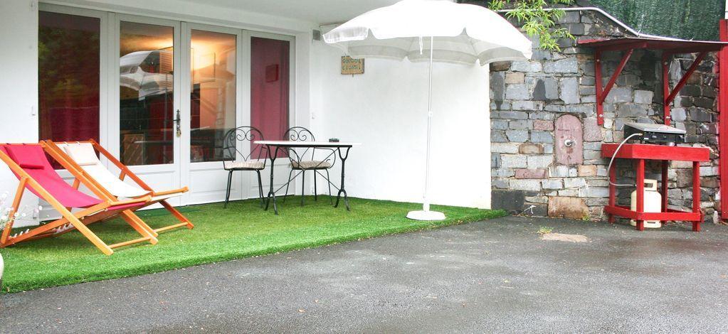 Apartamento con jardín para 4 personas