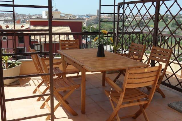 Apartamento para 6 personas con balcón