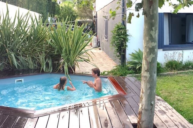 Cosy flat in a villa with pool