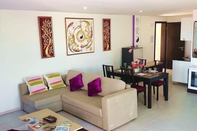 Hébergement de 90 m² à 5 chambres