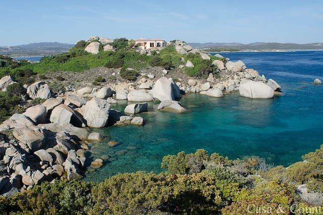 Villa frente al mar en su propia península, Costa Serena, Palau, para 8 personas