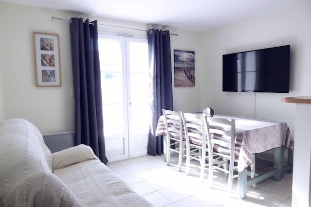 Alojamiento de 3 habitaciones en La couarde sur mer