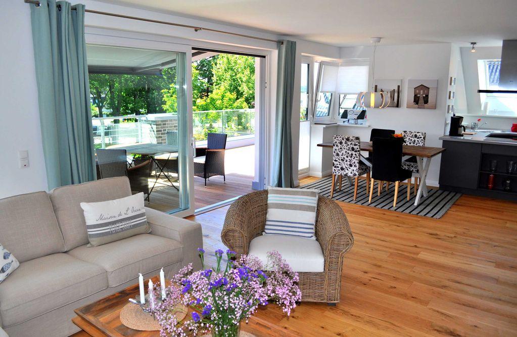 Wohnung mit Balkon für 4 Gäste