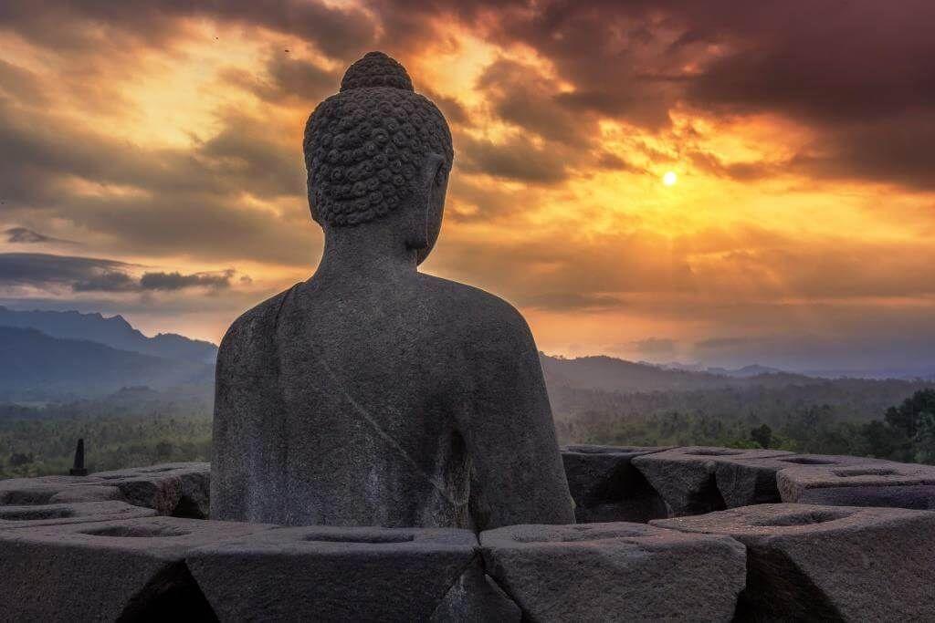 Temple Bouddhiste Java en Indonésie
