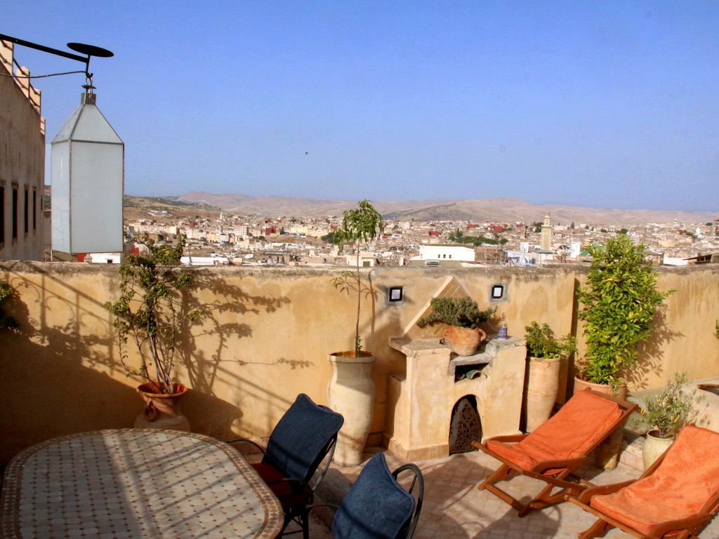 Equipada vivienda en Fez medina