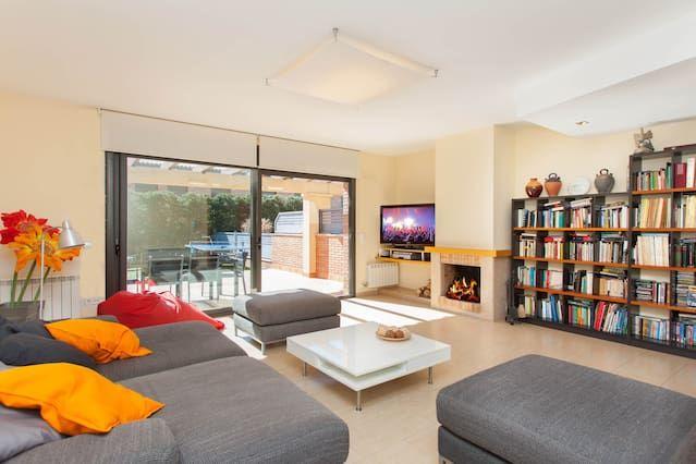 Casa con jardín de 180 m²