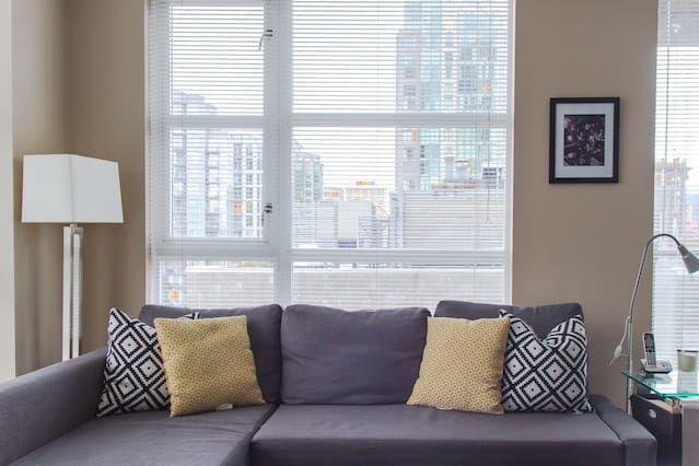 Espacioso Piso con 1 dormitorio(s) en Downtown, Vancouver con Aparcamiento, Piscina, Gimnasio y Terraza
