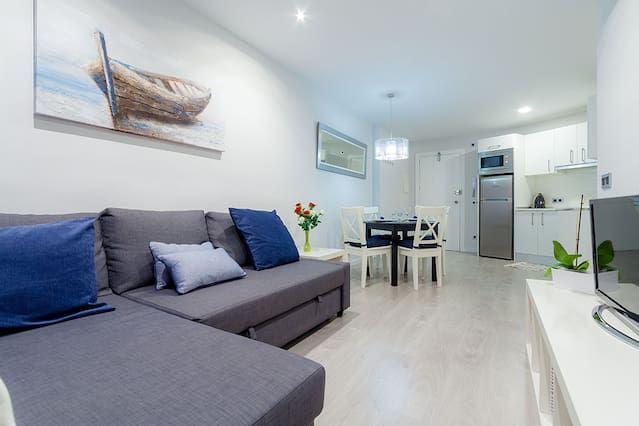 Moderno y acogedor apartamento cerca de la playa