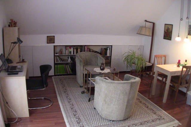 Wohnung m. Balkon und Dachterrasse / Apartment with Balcony/Patio
