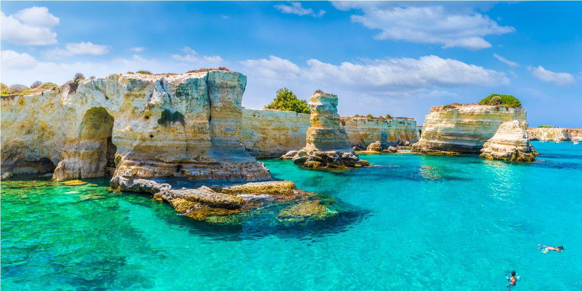 Puglia Spiagge Piu Belle Cartina.Il Mare Della Puglia Le 20 Spiagge Piu Belle Dal Salento Al Gargano