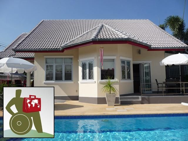 Pool villa Red, WHEELCHAIR ACCESS, serviced.