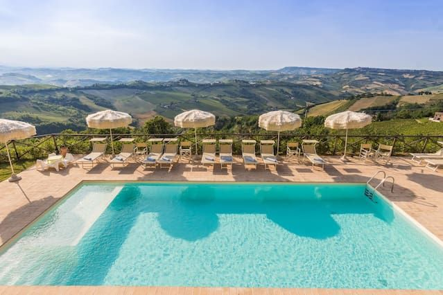 Villa con piscina y seeview en las laderas de Ripatransone