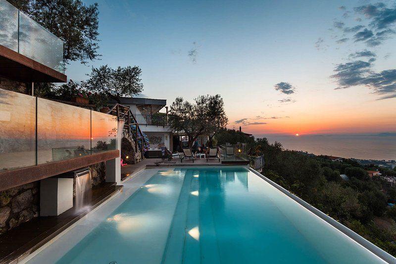 Casa con balcón en Sorrento