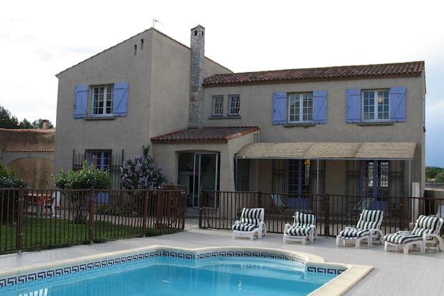 Panorámica casa en Bouzigues