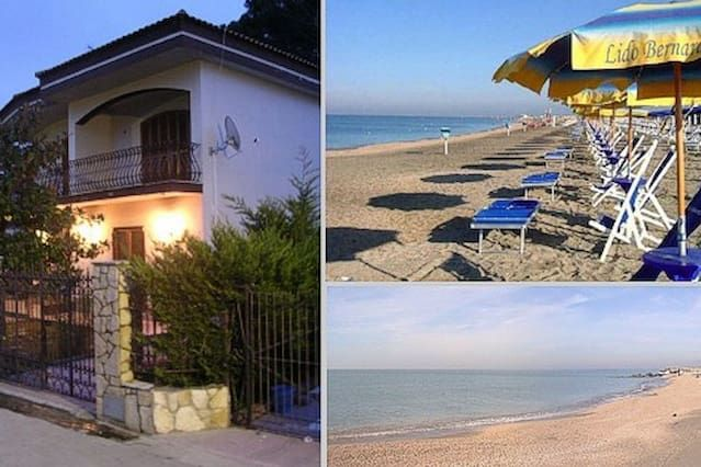 2 livel Villa, in Holiday home on privat road with guard, nearby the sea.
