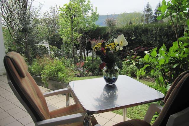 Appartement confortable avec jardin