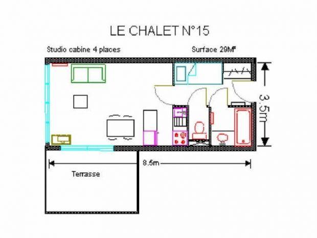 Apartamento de 28 m² en Gourette
