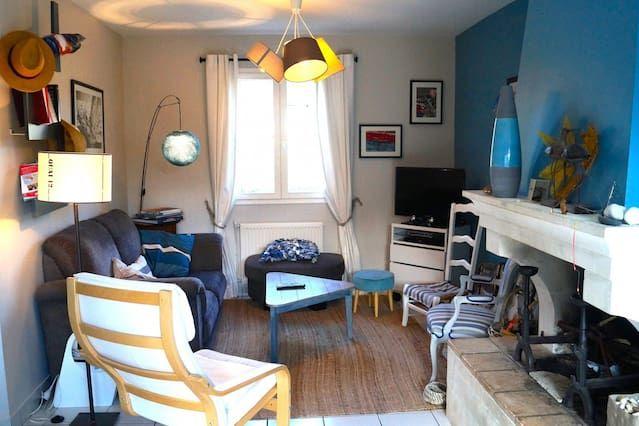 Dinard, Casa 8 personas, 100m², moderno, playa y centro de la ciudad 600m, jardín