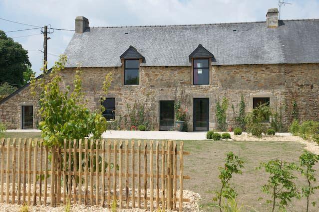 Breton casa de campo renovado entre Vannes y el Golfo de Morbihan.