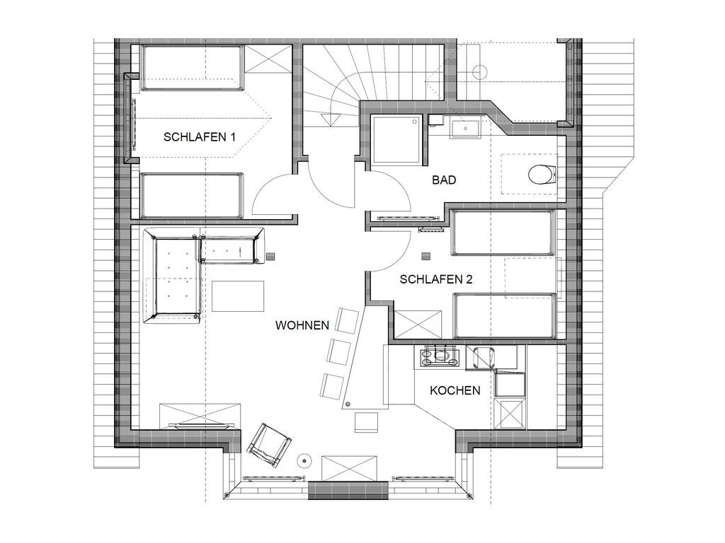 Ausgestattetes Apartment mit Wi-Fi