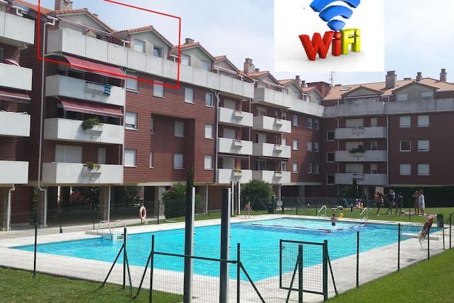 Hébergement pour 6 voyageurs avec piscine