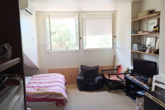 Bien équipé appartement avec 1 chambre