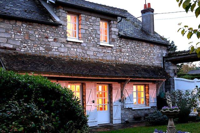 Encantadora casa de campo con jardín cerca de París