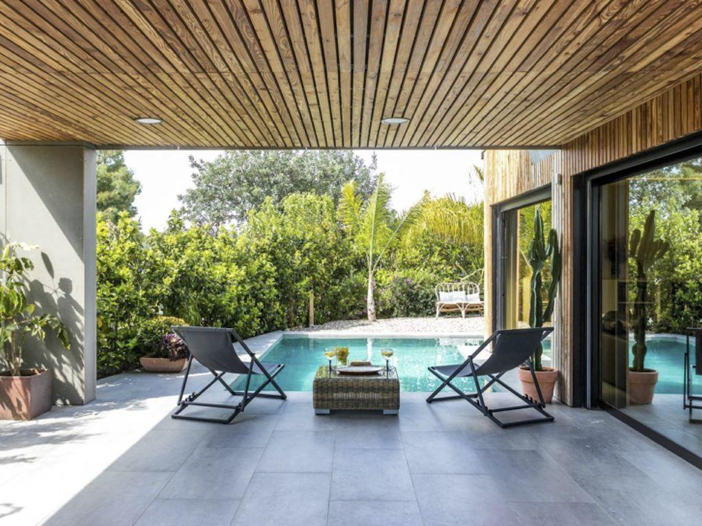 Residencia con jardín para 6 huéspedes