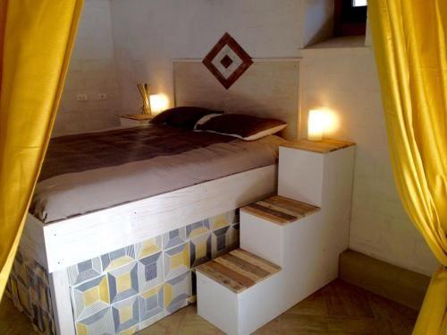 Eingerichtete Chalet mit 1 Zimmer