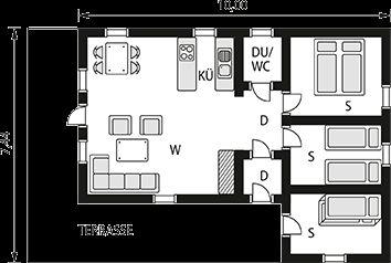 Vivienda de 60 m² para 6 huéspedes