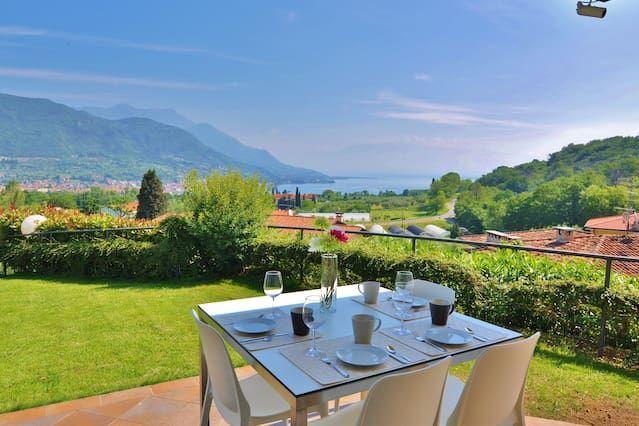 Panorámica Dormitorio Lago Garda Dos baja con jardín