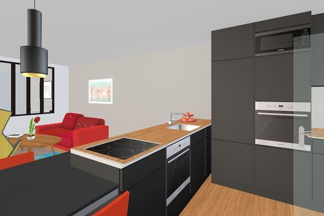 Vivienda para 2 huéspedes de 1 habitación