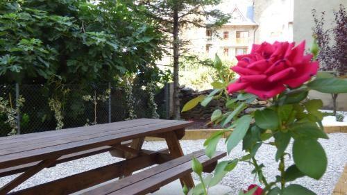 Ferienwohnung mit 1 Zimmer und Garten