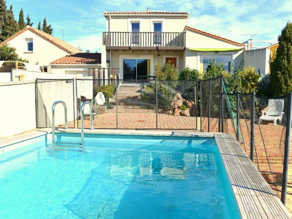 Arquitecto chalet con piscina cerca de la costa (Sète), WiFi, Clima...