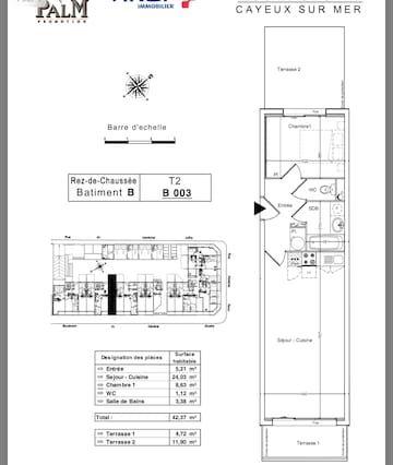Piso de 60 m² para 6 huéspedes