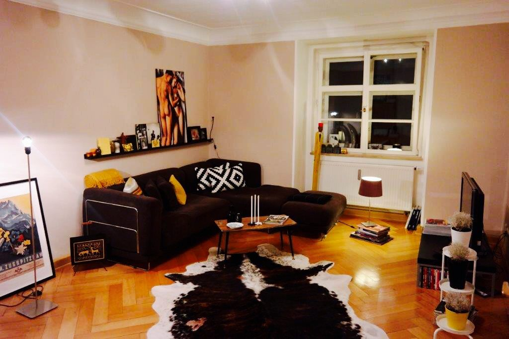 Cómodo piso en Múnich con Sábanas y toallas y Lavadora