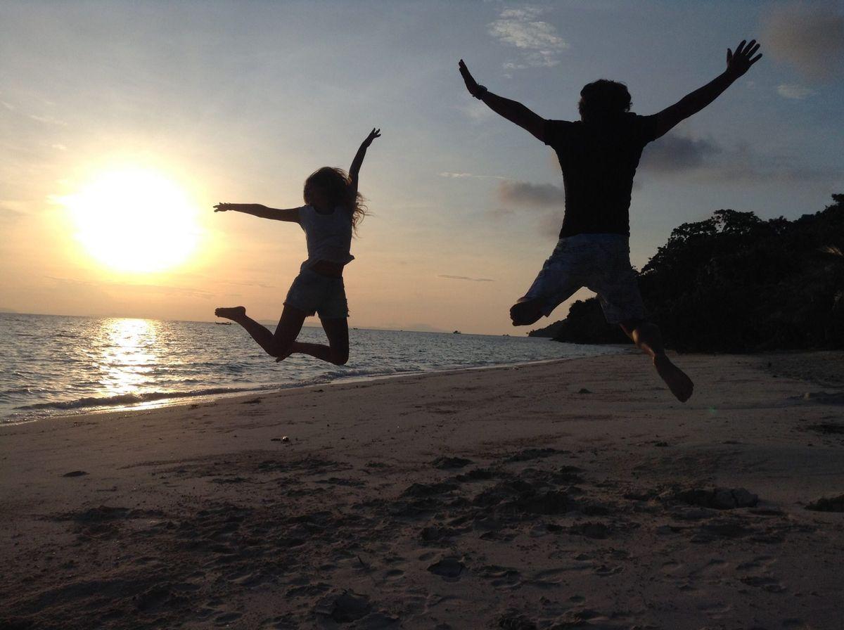amis sur la plage