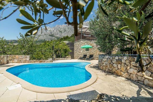 Cortijo en Makarska con Terraza, Aire acondicionado, Aparcamiento, Jardín (458540)