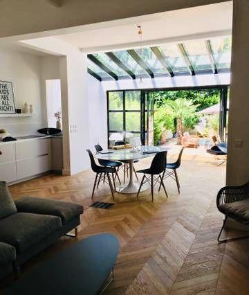casa del corazón de la ciudad bordelesa 220m² y 100m² de jardín