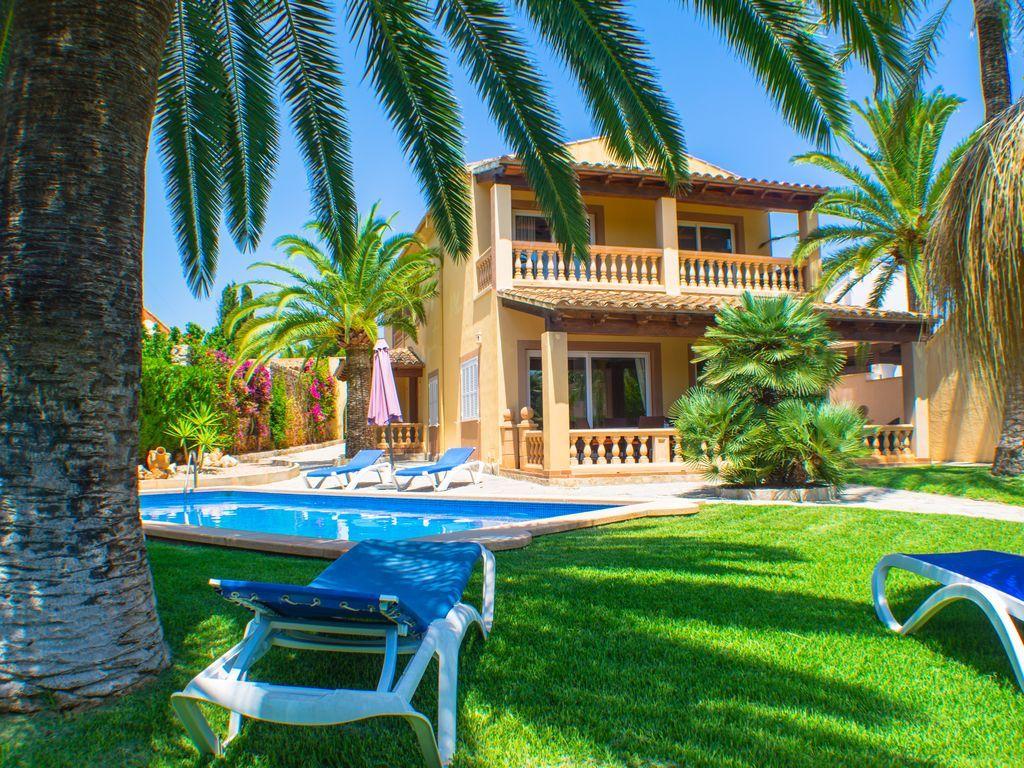 gran villa con piscina y jardín de palmeras - 8 personas + 4 niños