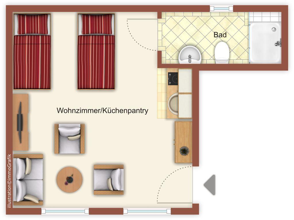 Wunderbare Unterkunft für 4 Gäste