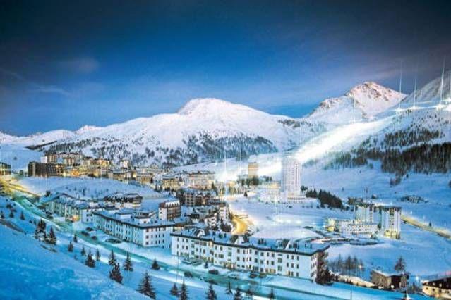 Sestriere. 100 metros de las pistas de esquí